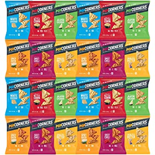 Snack Chest Popcorners Mixed Premium Variety Sampler Package, Many Different Flavors, 1 Ounce Bags (24 Count)