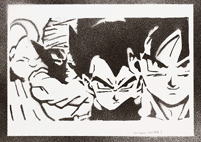 Dragon Ball Goku Vegeta Piccolo Majin Bu Poster Handmade Graffiti Street  Art - Artwork