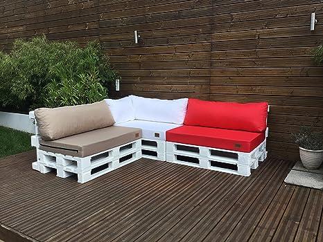 Mayaadi Home Palettenauflage passend für Europalletten Palettenpolster  Paletten-Sitzsofa für Drinnen und Draußen MH-GD03 (Rückenkissen kurz ...