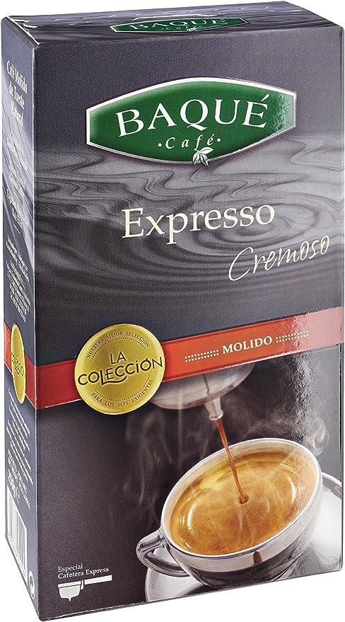 Cafés Baqué - Expresso Cremoso. Cafe Molido Expresso de Tueste Natural - 250 gr: Amazon.es: Alimentación y bebidas