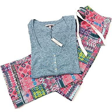 9de8a7a2178a1 Victoria's Secret The Dreamer Henley Top Pajama Set Small (Lightly ...