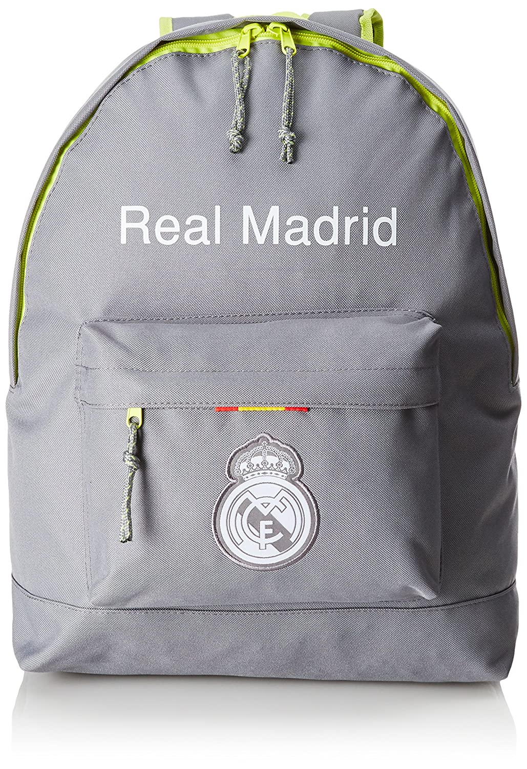 076495 Real Madrid Mochila Tipo Casual, 20 litros, Color Gris