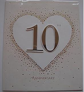 Amazon 3drose 10th wedding anniversary gift tin celebrating on your 10th wedding anniversary greeting card m4hsunfo