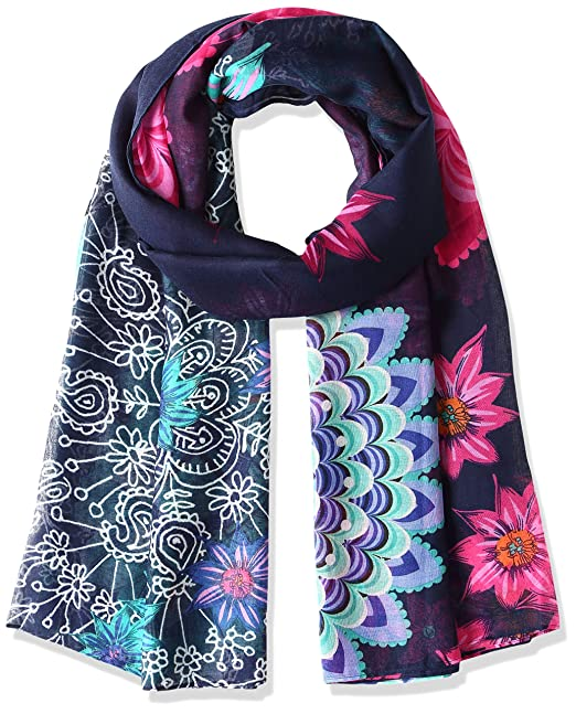 Donna Dance navy Scialle New Foulard Blu Desigual 5000 rectangle ABvwgXWnq