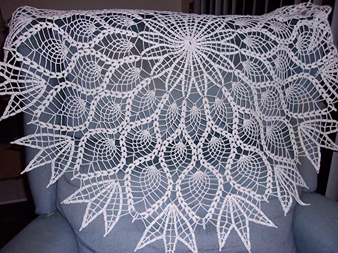 Large Table Covering, Extra Large Doily, Large Pineapple Tablecloth