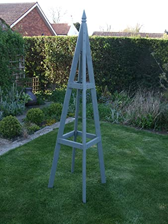Heavy Duty Garden Obelisk 1.8m High Painted Woodland Trust Willow