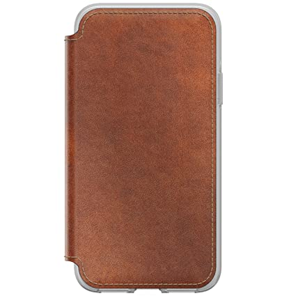 online store 0450d 9634d Nomad Leather Folio Clear iPhone X Brown