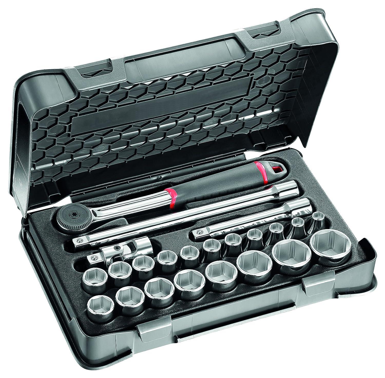 Pack de 23 piezas surtido de llaves de vaso hexagonales en estuche de ABS USAG U06060302