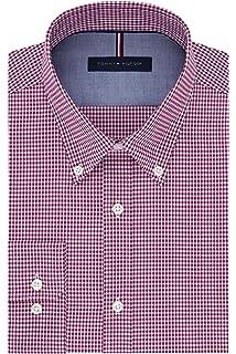 134510d00 Tommy Hilfiger Men s Non Iron Slim Fit Gingham Buttondown Collar Dress Shirt
