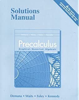 Student solutions manual for precalculus graphical numerical precalculus graphical numerical algebraic solutions manual fandeluxe Image collections