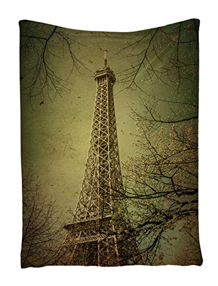 Eiffel Tower Tapestry Fall Scene Tapestry Wall Hanging Artwork For Home In  40 X 60 Inches
