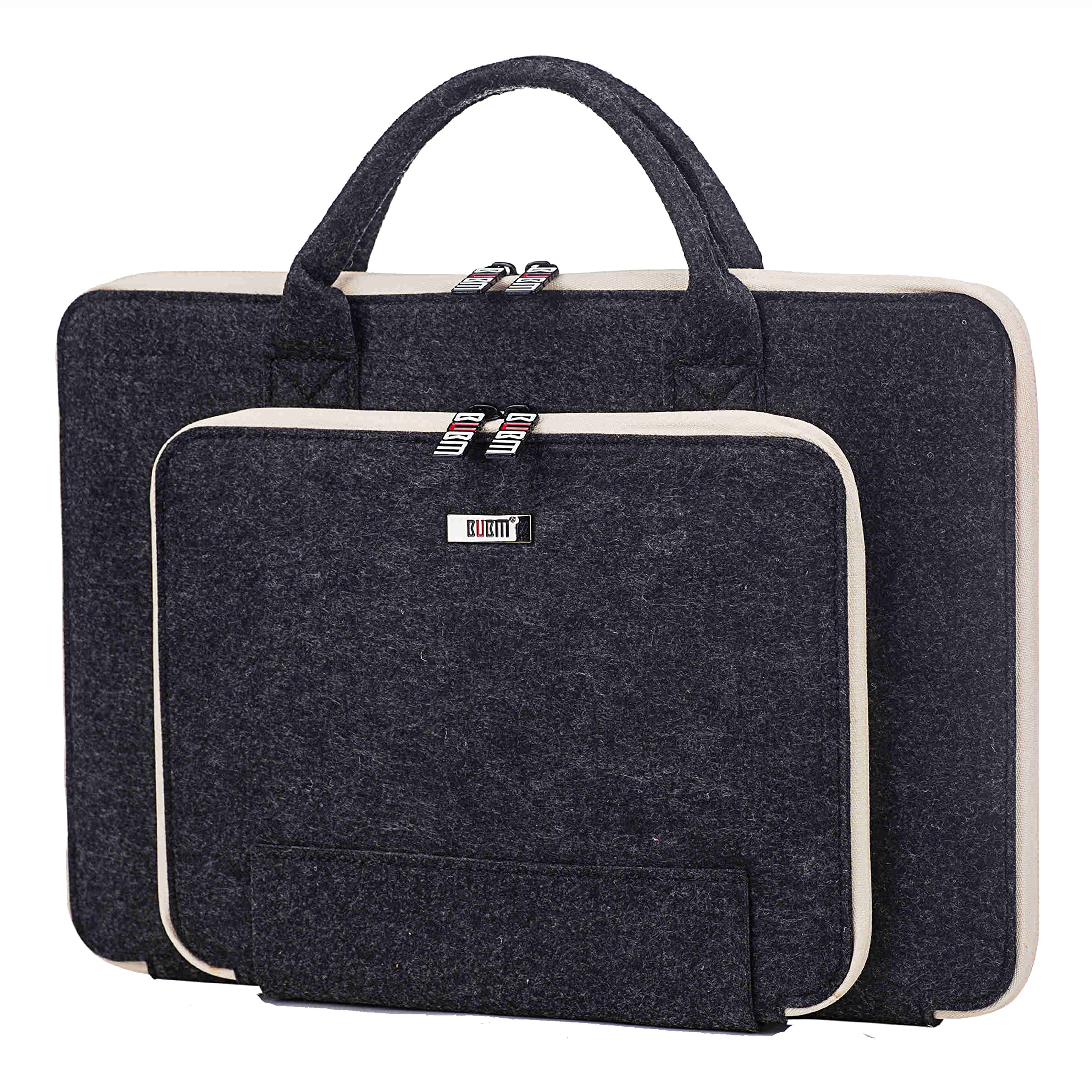Laptop Felt Sleeve Case Briefcase for 11/13/15 Inch iPad MacBook Notebook Protector Office Business Handbag Grey (15 INCHES)