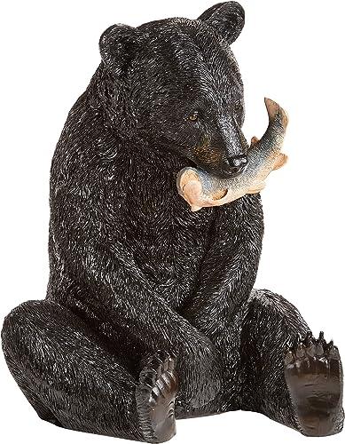 Design Toscano The Expert Fisherman Black Bear Statue