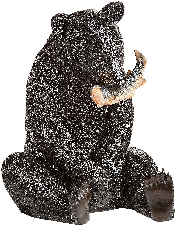 Amazon.com : Design Toscano The Expert Fisherman Black Bear Statue :  Outdoor Statues : Garden U0026 Outdoor