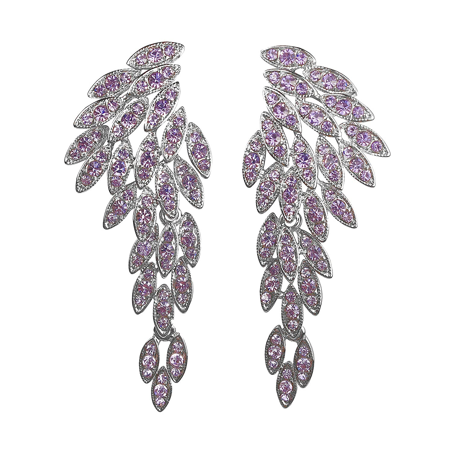 24219f8e2 UNIQUE DESIGN - Looking for party earrings? Studded with dazzling  rhinestone crystals in gold, rose gold, silver, black and amethyst for an  eye-catching ...
