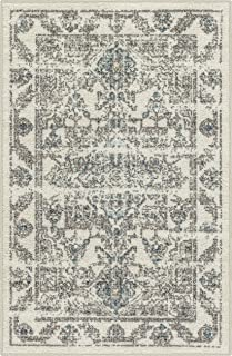 product image for Maples Rugs Distressed Tapestry Vintage Kitchen Rugs Non Skid Accent Area Floor Mat [Made in USA], 2'6 x 3'10, Neutral