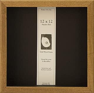 product image for Frame USA Shadow Box Showcase Series 12x12 Wood Frames (Honey)