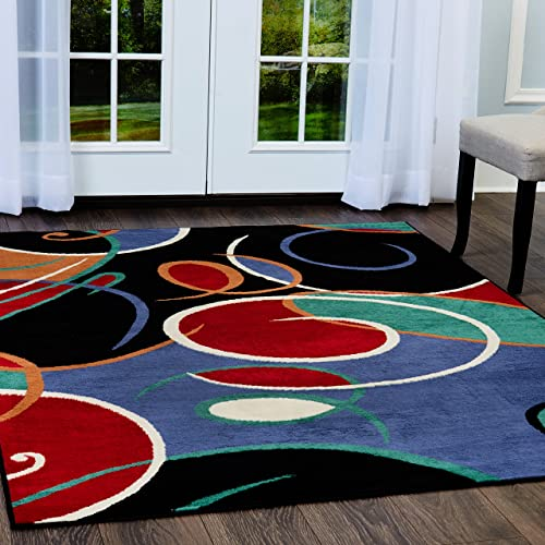 Home Dynamix HD613-465 Loire Contemporary Area Rug 8×10 Black/Blue