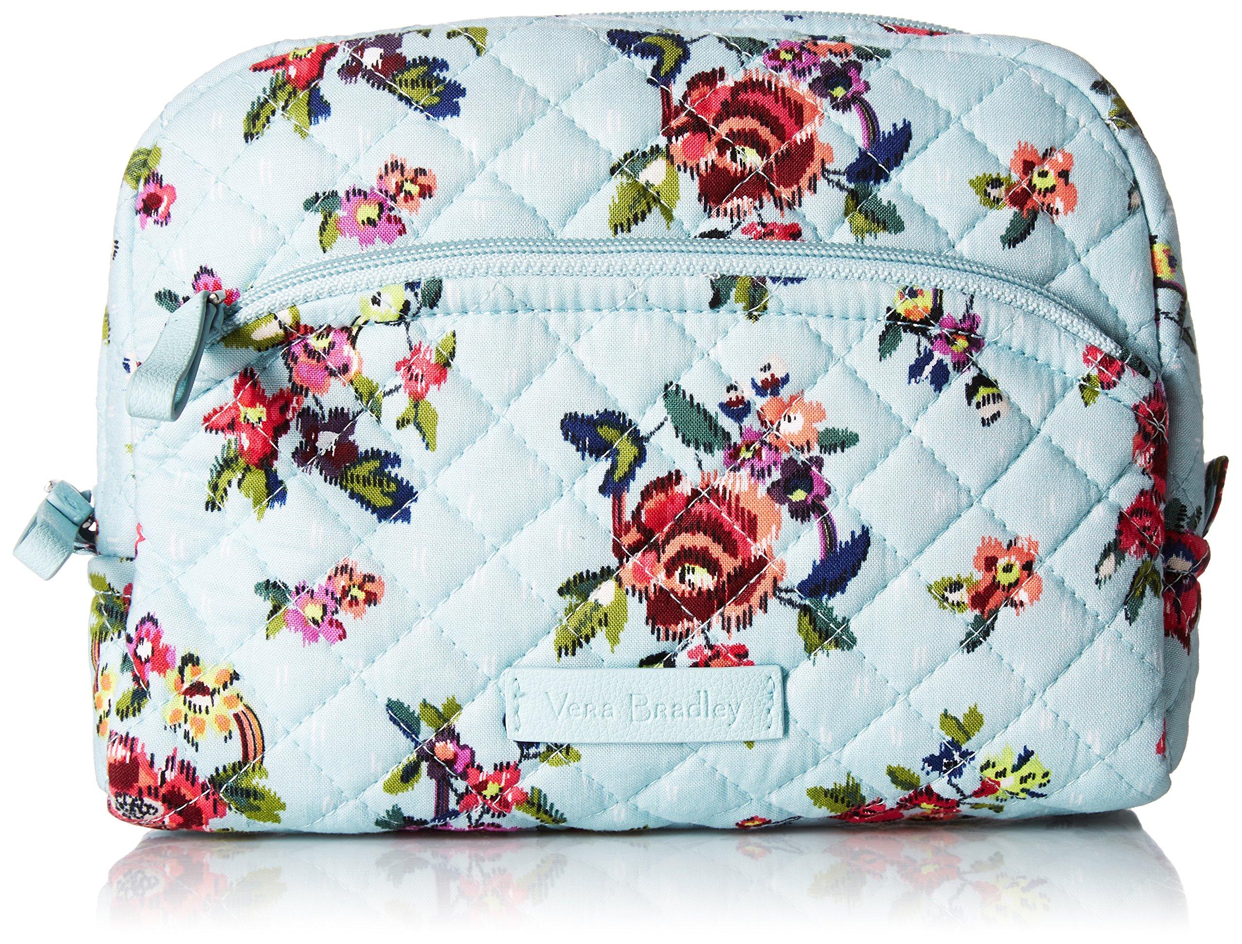 Vera Bradley Iconic Medium Cosmetic, Signature Cotton, Water Bouquet