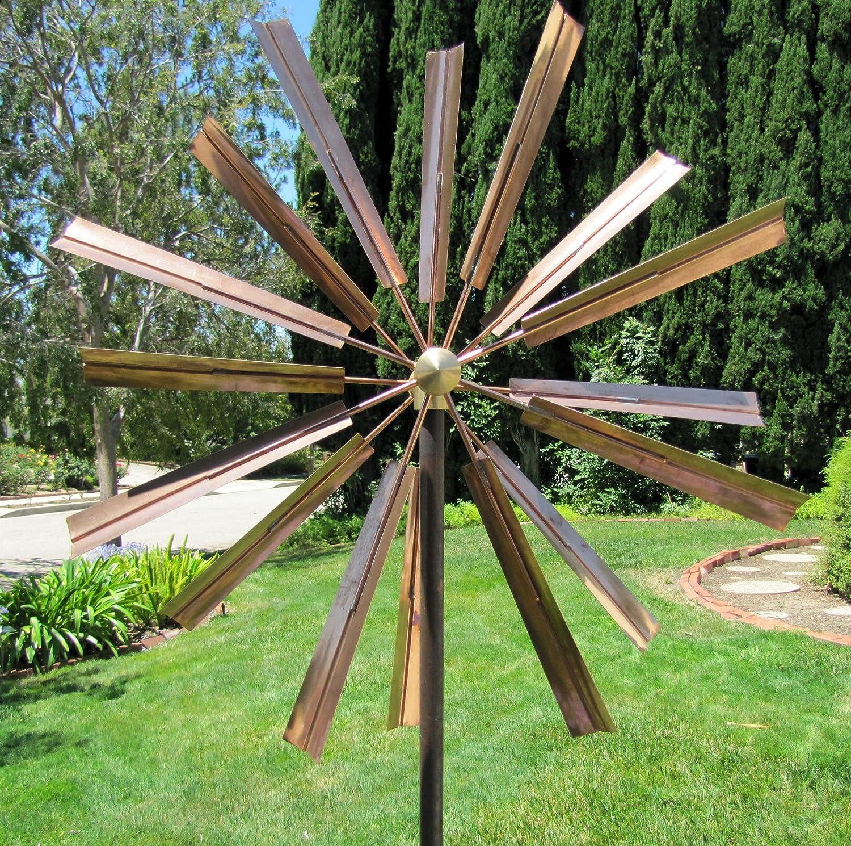 Amazoncom Stanwood Wind Sculpture Kinetic Copper Wind Sculpture