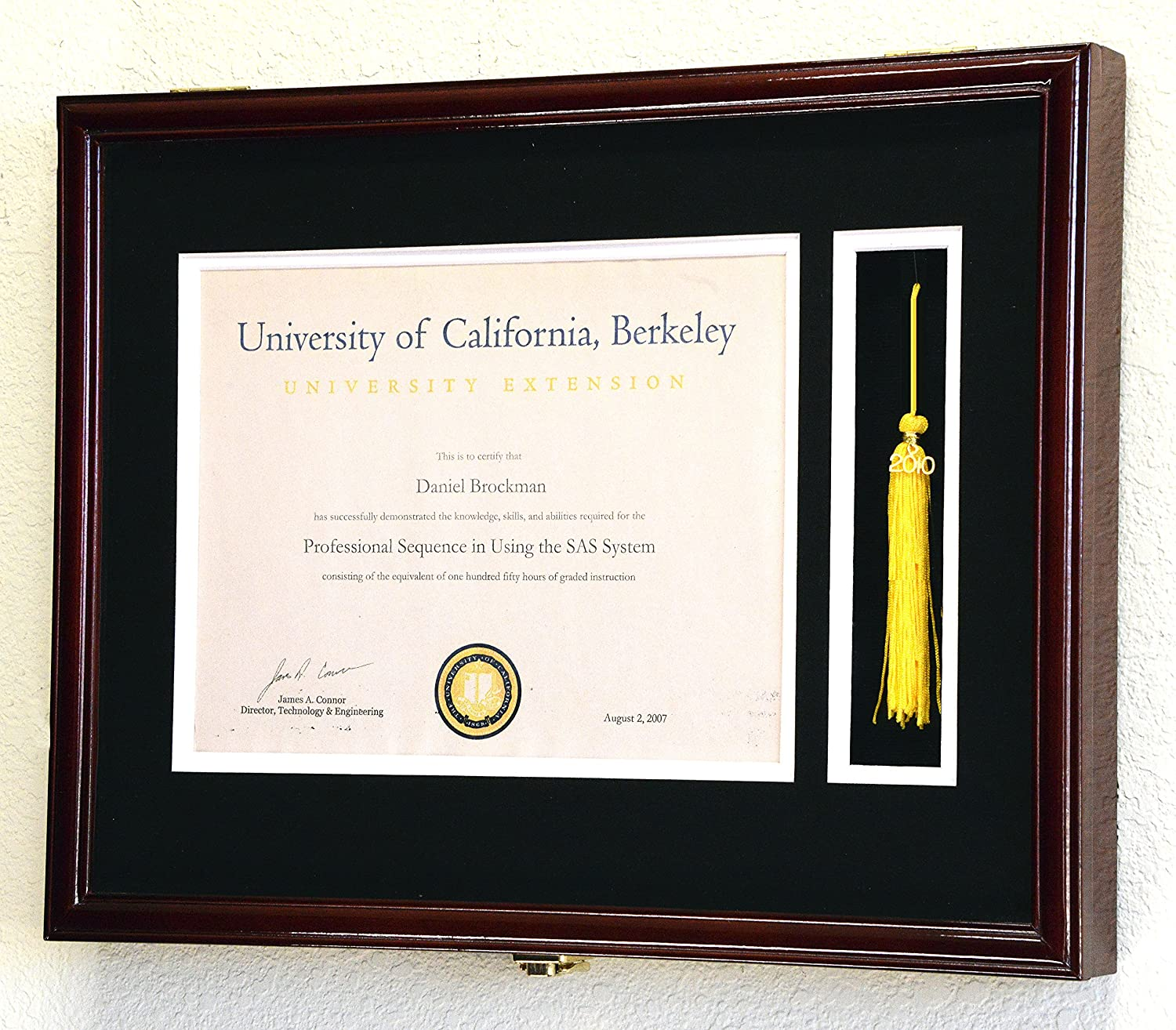 Amazon.com: Graduation Diploma and Tassel Frame Display Case 11 x ...