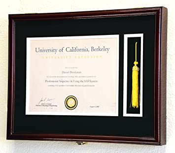 Amazoncom Graduation Diploma And Tassel Frame Display Case 11 X