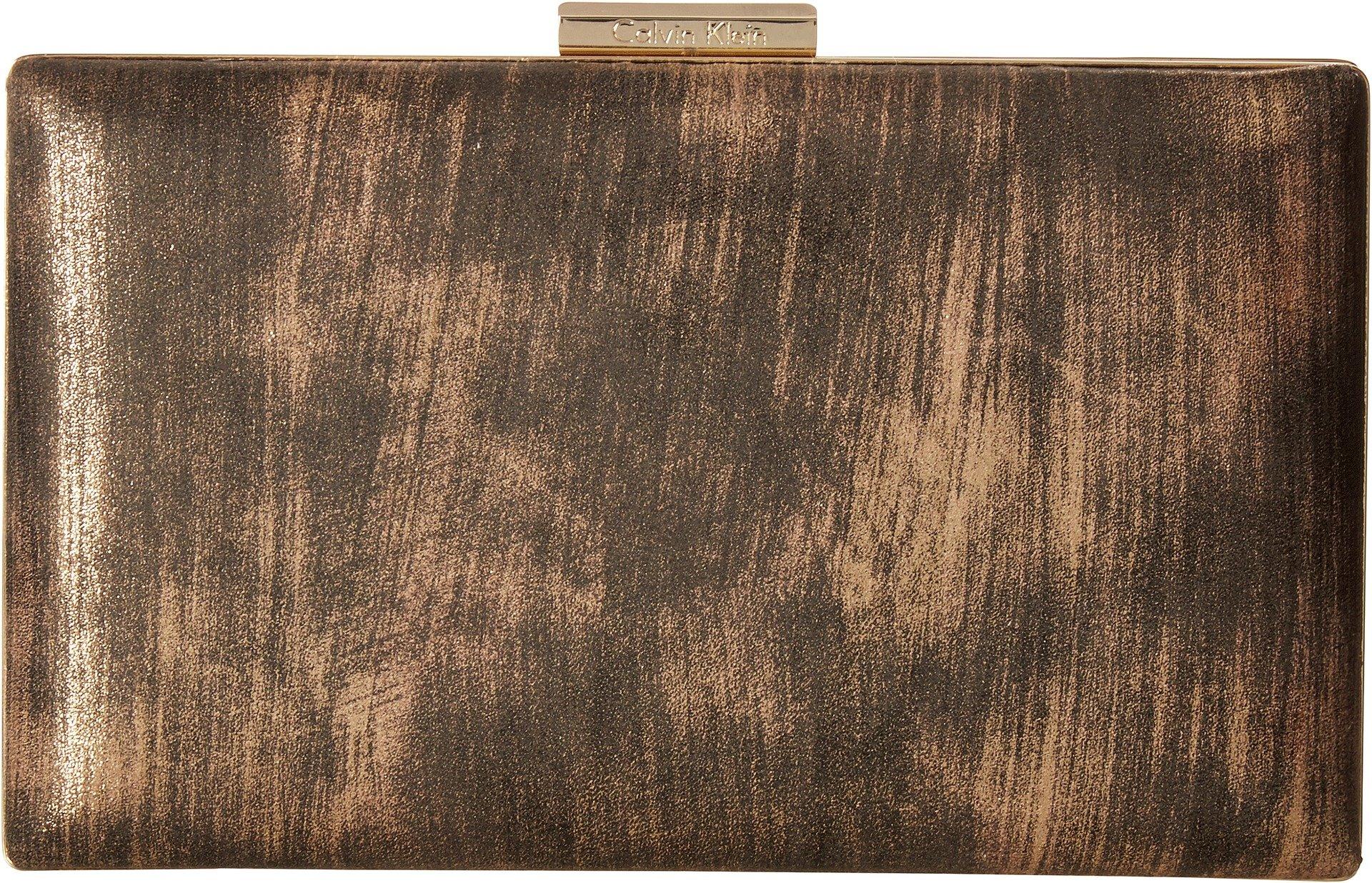 Calvin Klein Women's Brushed Metallic Evening Bag Gold One Size