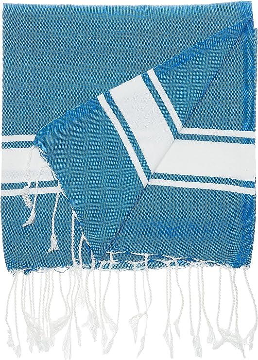1001 Foutas A008 Toalla de Playa algodón 200 x 100 x 0,1 cm, Color Azul: Amazon.es: Hogar