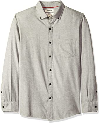d79ff918 Amazon.com: Amazon Brand - Goodthreads Men's Slim-Fit Long-Sleeve Brushed  Heather Shirt: Clothing