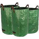 Gardzen 3-Pack Different Sizes Garden Bag 32&40&72 Gallons - Reuseable Heavy Duty Gardening Bags, Lawn Pool Garden Leaf…