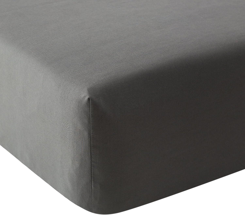 140 x 200 cm gris AYSW Drap-housse en microfibre Gris fonc/é Microfibre
