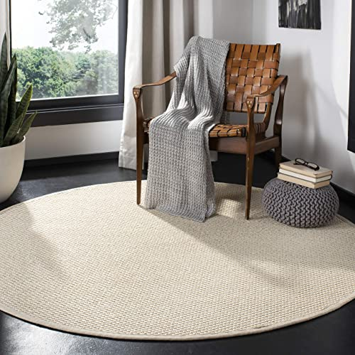 Safavieh NF150A-6R Natural Fiber Collection Premium Wool Round Area Rug