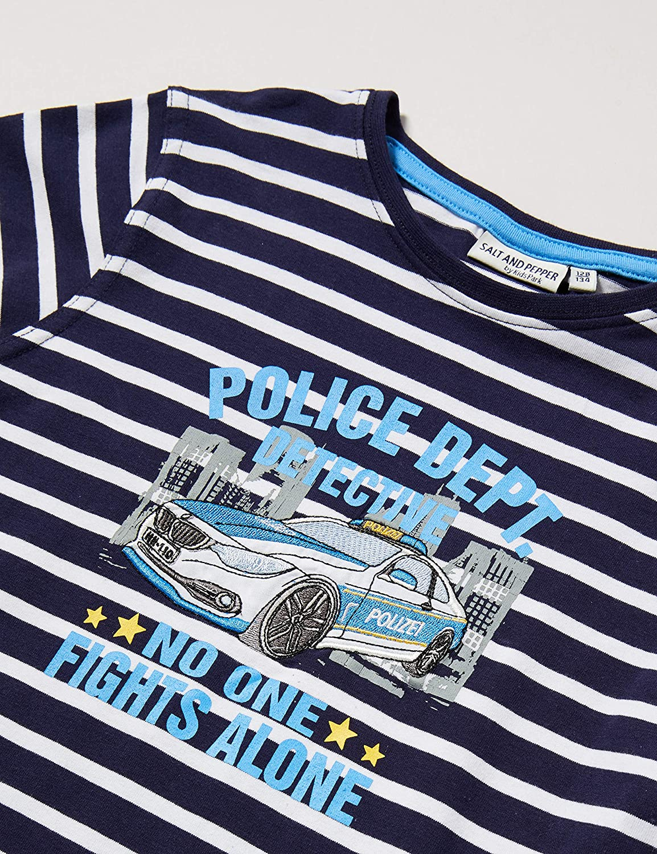 Blau Navy 498 , Salt /& Pepper Jungen 03111152 Langarmshirt Herstellergr/ö/ße: 92//98