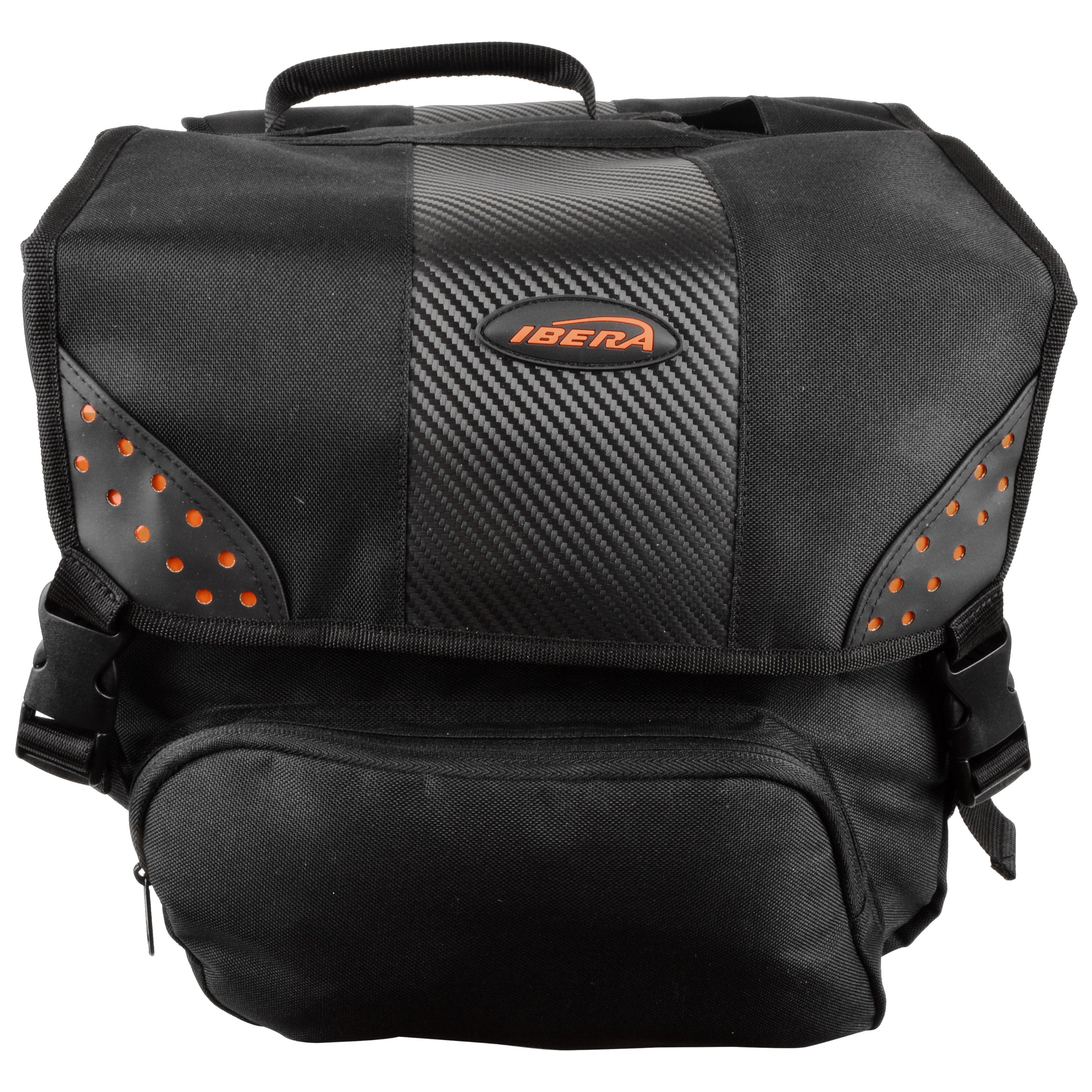 Ibera Bicycle Side-Mounting Pannier Set, Bike Panniers with Multi-Compartments, Slit on Top to Mount on Smaller Racks  by Ibera (Image #3)
