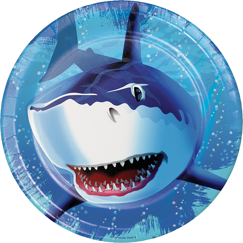 Shark Splash Paper Plates, 24 ct