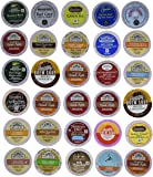 30-count Top Brand Coffee, Tea, Cider, Hot Cocoa and Cappuccino Variety Sampler Pack, Single-Serve Cups for Keurig…