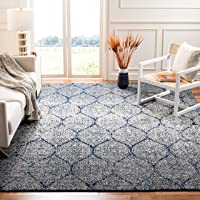 Deals on Safavieh Madison Stella Ogee Curve Navy/Silver Rug 6.7x 9.2-ft