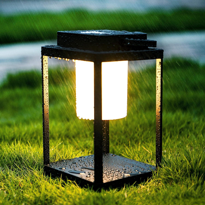 BRIMMEL Lámpara de mesa portátil LED 35W 3000K Linterna Lámpara de mesita de noche para exteriores Luz de mano IP44 mesilla de noche con control táctil inalámbrico de 3 niveles a prueba de agua