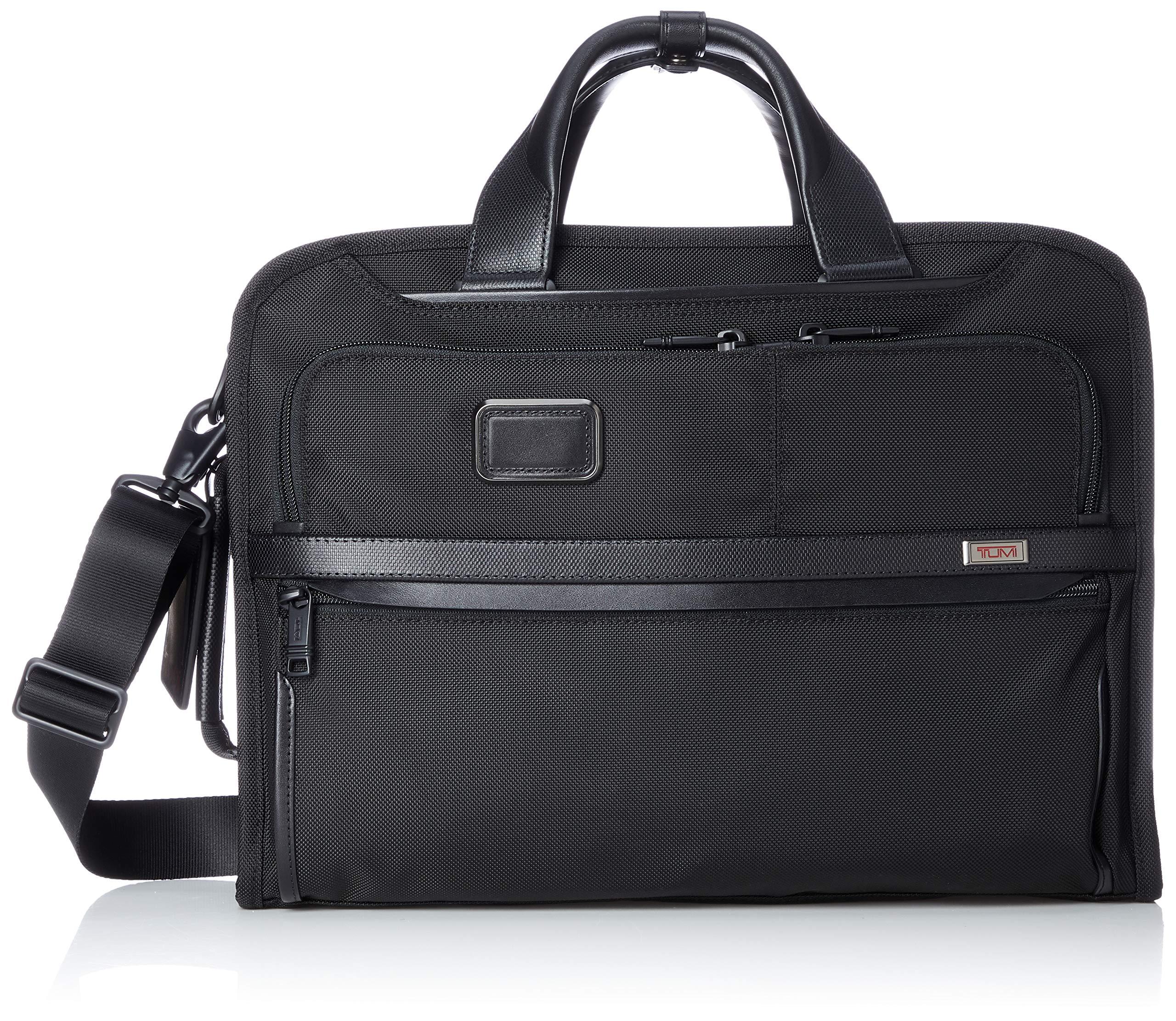 TUMI - Alpha 3 Slim Three Way Laptop Brief Briefcase - 15 Inch Computer Bag for Men and Women - Black
