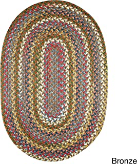 product image for Rhody Rug Charisma Indoor/Outdoor Oval Braided Rug by (7' x 9') - 7' x 9' Oval Bronze