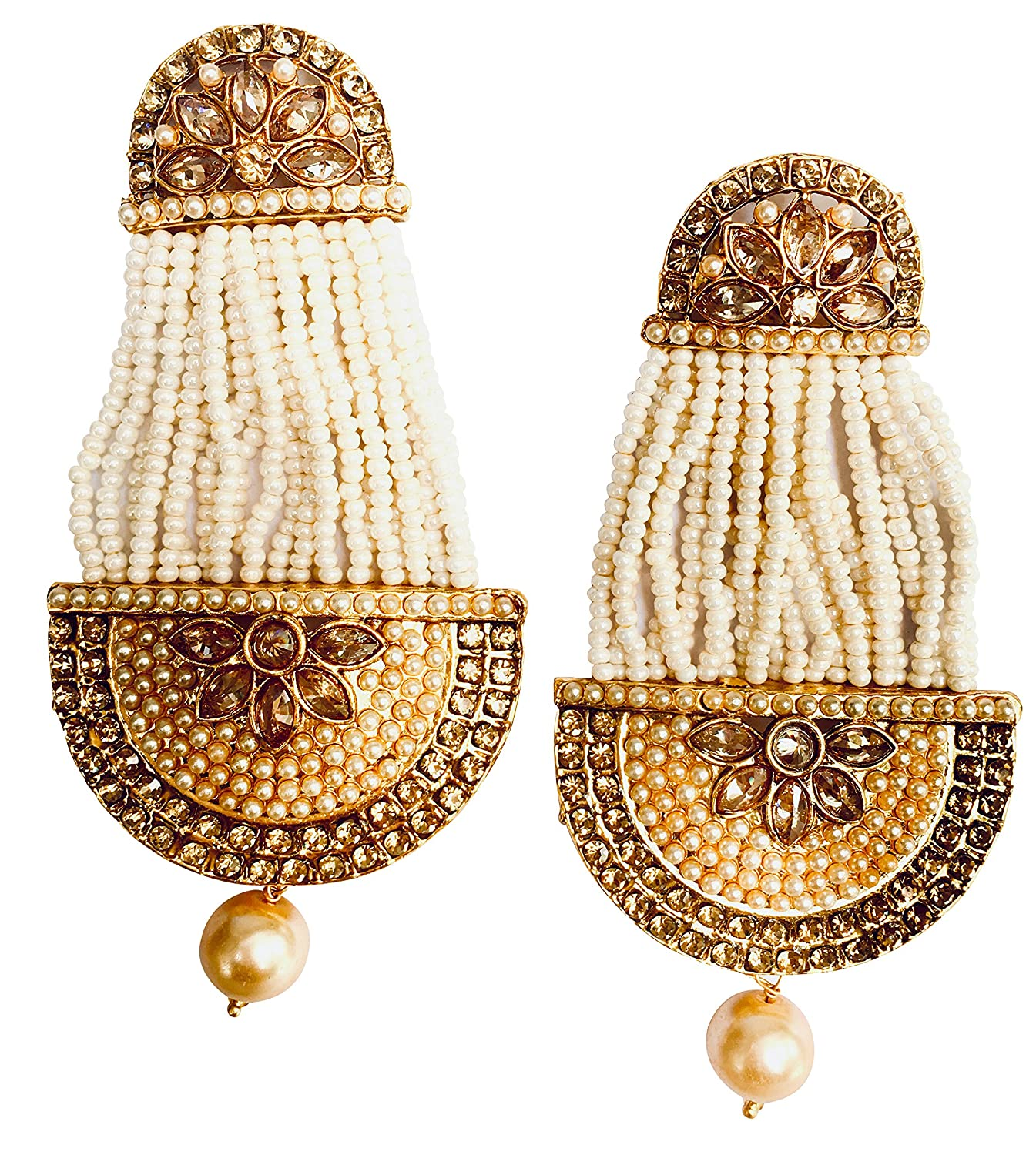 057522c05 Fashion Costume Imitation Artificial Jewellery Hyderabad style in Gold  Polish with Stones