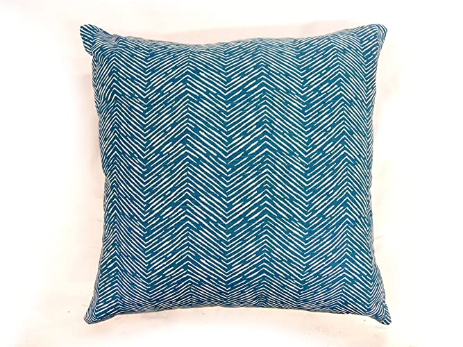 Amazon Bright Blue Paint Chevron Pillow Cover Colorful New How To Paint A Chevron Pattern