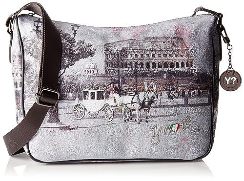 Ynot - I-370, Bolsos bandolera Mujer, Multicolore (Romantic Coach),