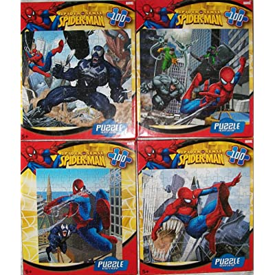 Spiderman 100-piece Jigsaw Puzzle- styles vary.: Toys & Games