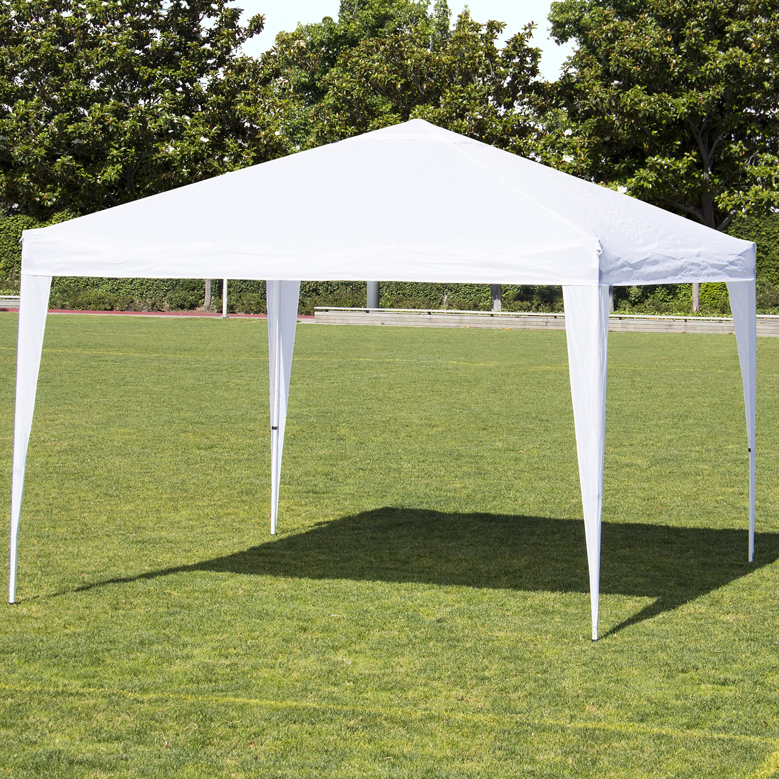 Best Choice Products 10x10ft Outdoor Portable Adjustable Lightweight Sturdy Instant Pop Up Gazebo Shade Canopy Tent w/Carrying Bag, Easy Assembly & No Tools Needed - White by Best Choice Products
