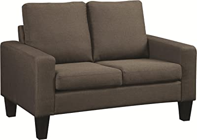 Coaster Home Furnishings Bachman Loveseat with Track Arms Grey
