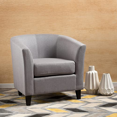 Christopher Knight Home Preston Arm Chair, Light Grey