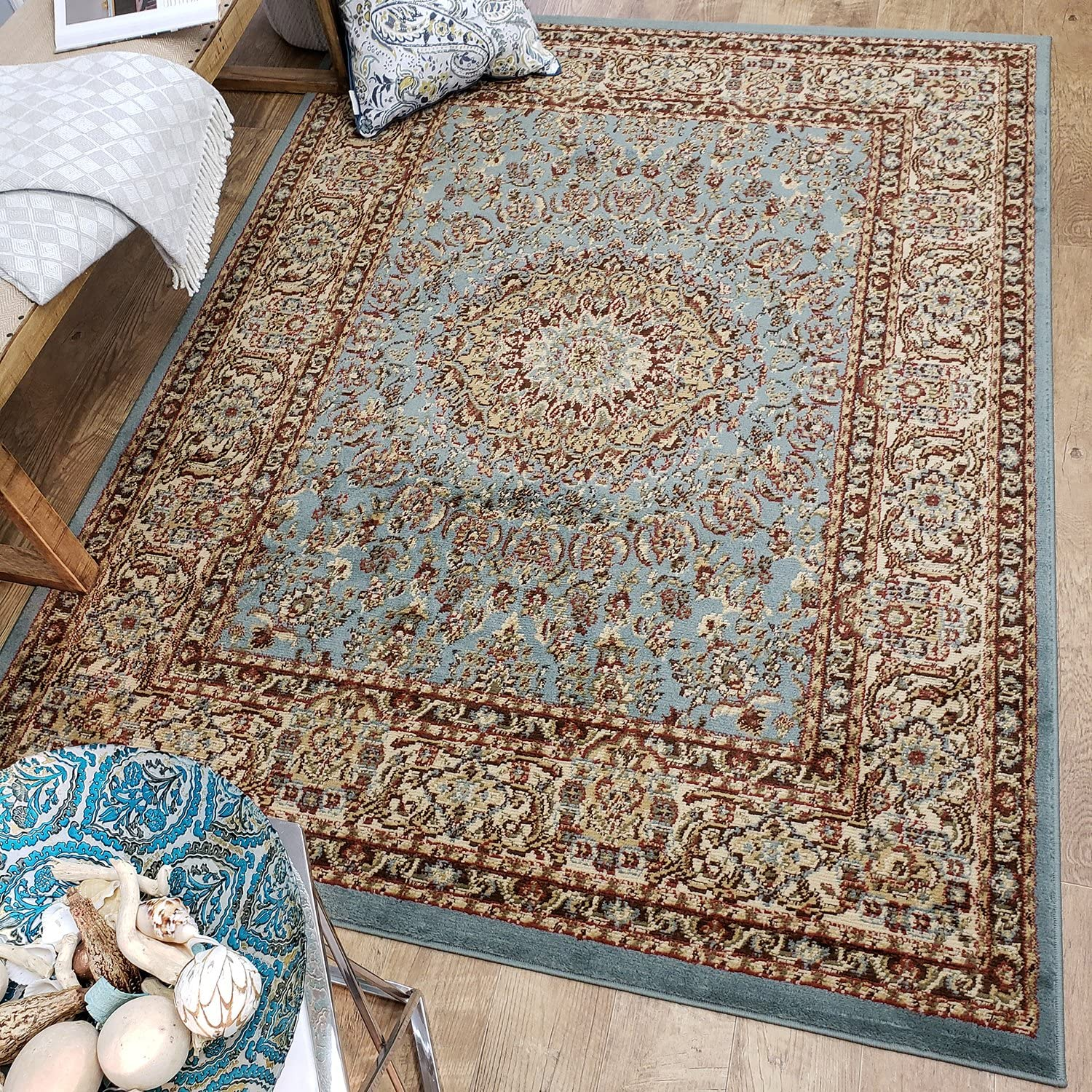 Traditional Hallway Runner Rug for Everyday Use, 7'10