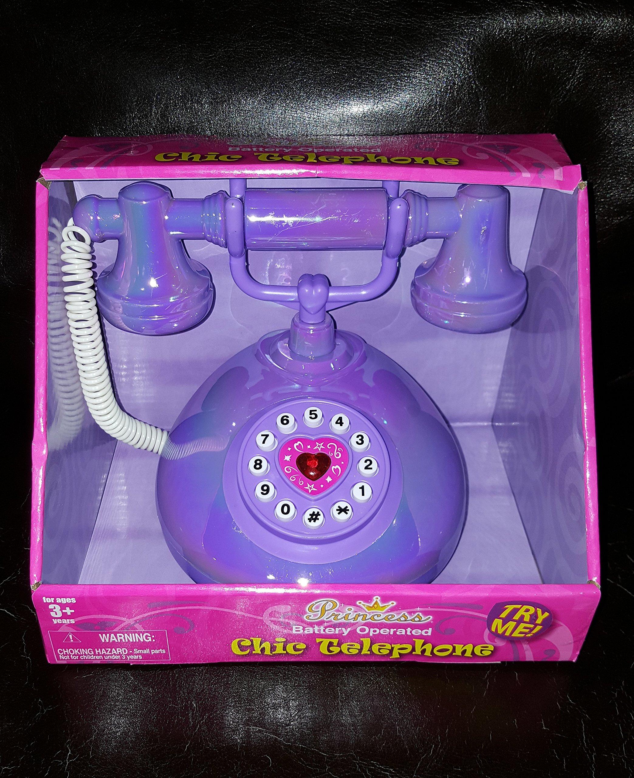 Princess Chic Battery Operated Telephone Purple
