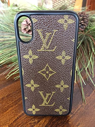 detailed look 13892 0eb10 Handmade iPhone X case covered with repurposed Louis Vuitton canvas